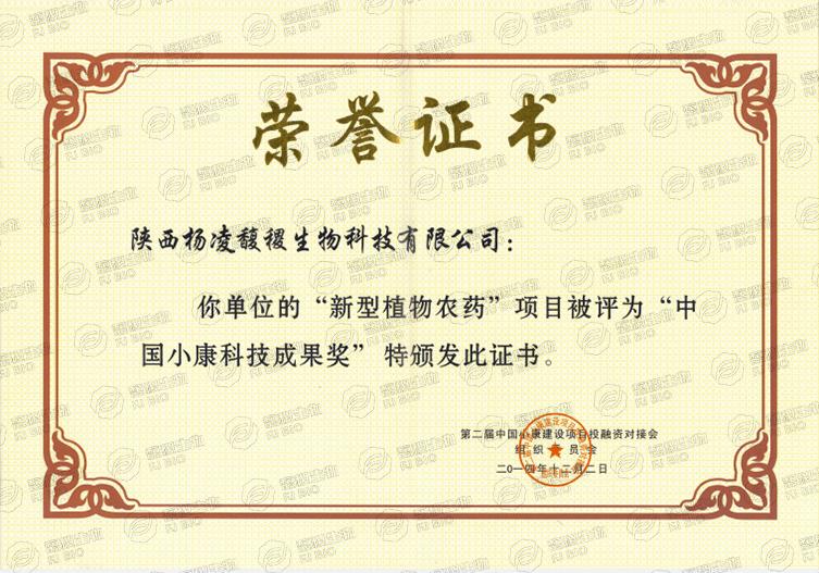 中国小康科技成果奖