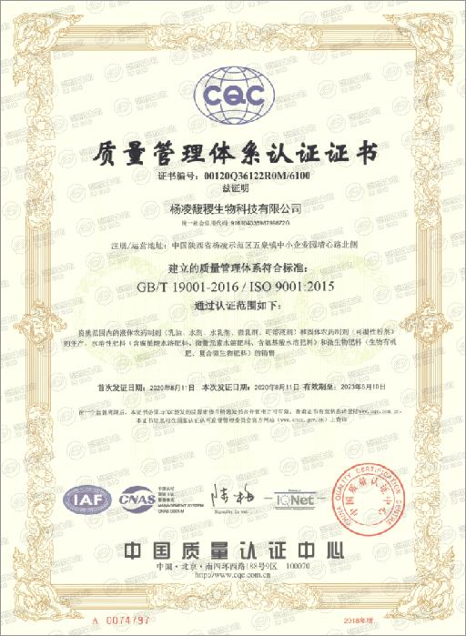 ISO9001质量管理认证